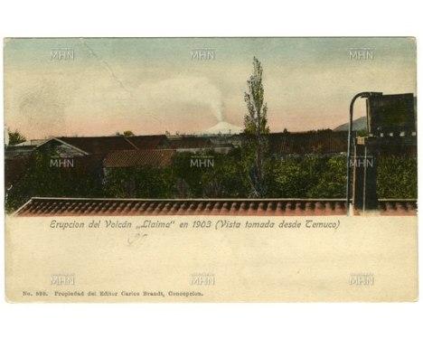 Erupcion Llaima 1903