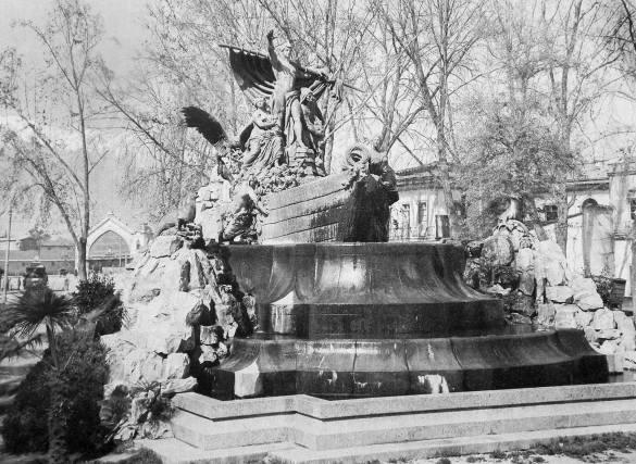 Santiago 1918 Fuente alemana