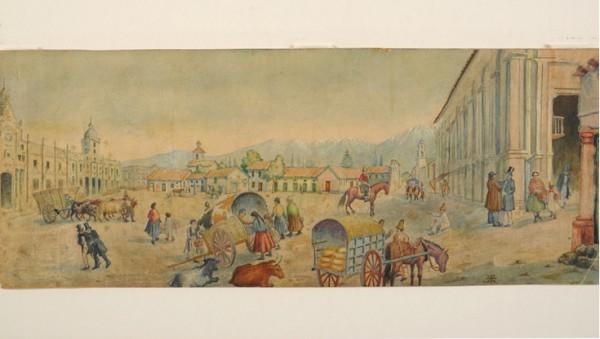 Plaza Stgo 1835